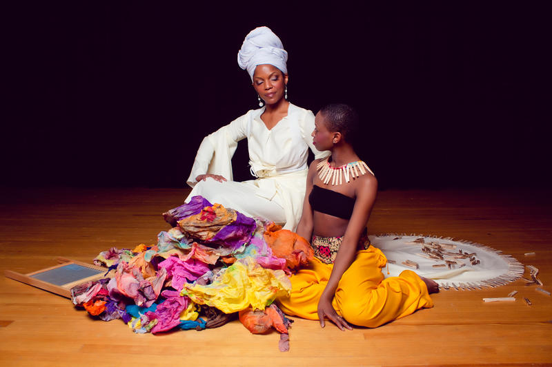 Nnenna Freelon as Grandma Blu in The Clothesline Muse - playing UNCW's Kenan Auditorium March 28th.