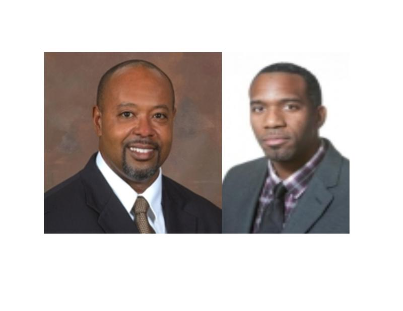 (Left) Dr. Kent Guion, UNCW Chief Diversity Officer; (Right) Travis Corpening, Director of Nixon Male Minority Leaders, CFCC