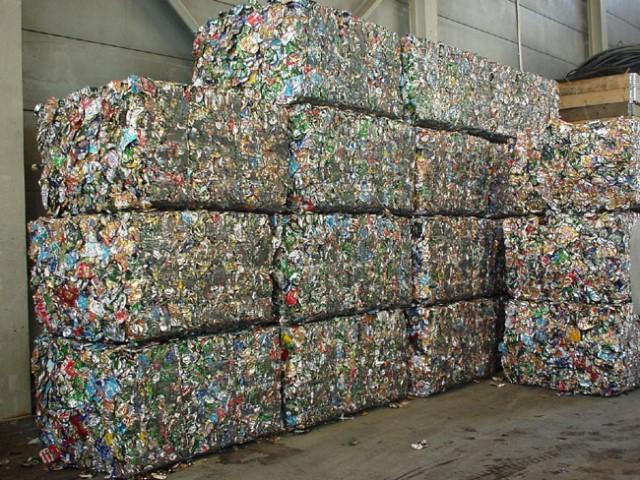 Compressed aluminum cans