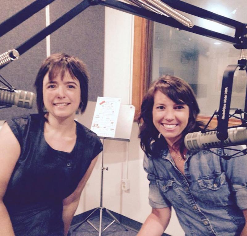Anna Lena Phillips Bell & Emily Louise Smith in the studio.
