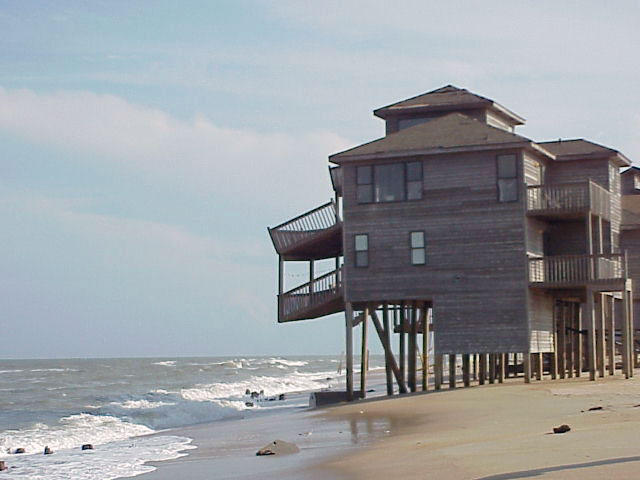 Hurricane Dennis battered the Outer Banks of North Carolina for many days during its 1999 landfall. Large waves caused considerable beach erosion.  Joaquin is not predicted to make landfall near Wilmington.