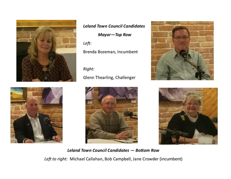 Candidates for Leland Mayor and Town Council 2015