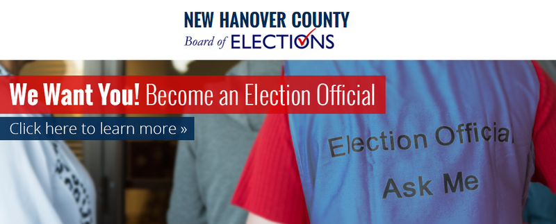 New Hanover County needs voting precinct officials for the 2016 elections.
