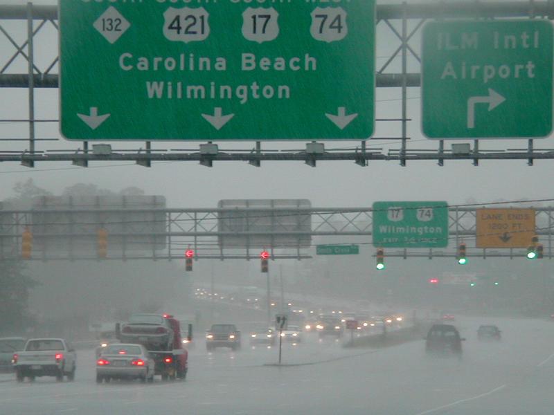 Hurricane weather in Wilmington, NC