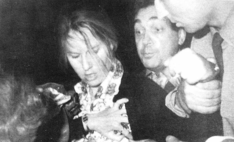 Martha Peterson during her arrest on July 15, 1977 by KGB operatives in Moscow.