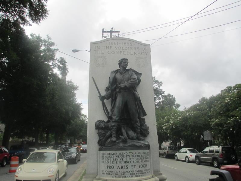 Confederate Monument, Third Street in downtown Wilmington, NC.