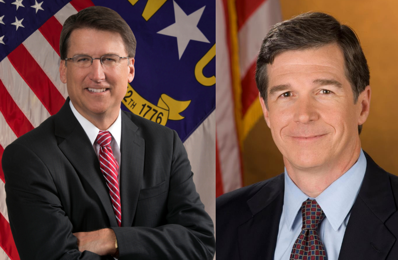 Governor Pat McCrory (left) & Attorney General Roy Cooper (right)