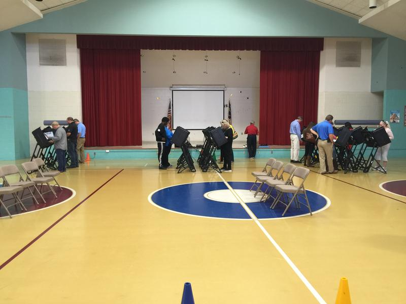 Belville Elementary in Brunswick County on November 8, 2016 saw a slow trickle of voters after the initial morning rush.