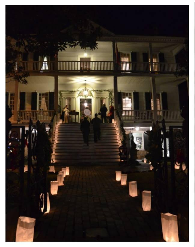 Christmas Stroll, Bellamy Mansion & Burgwin Wright House