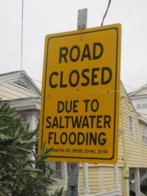A sign posted at Canal Road in Carolina Beach
