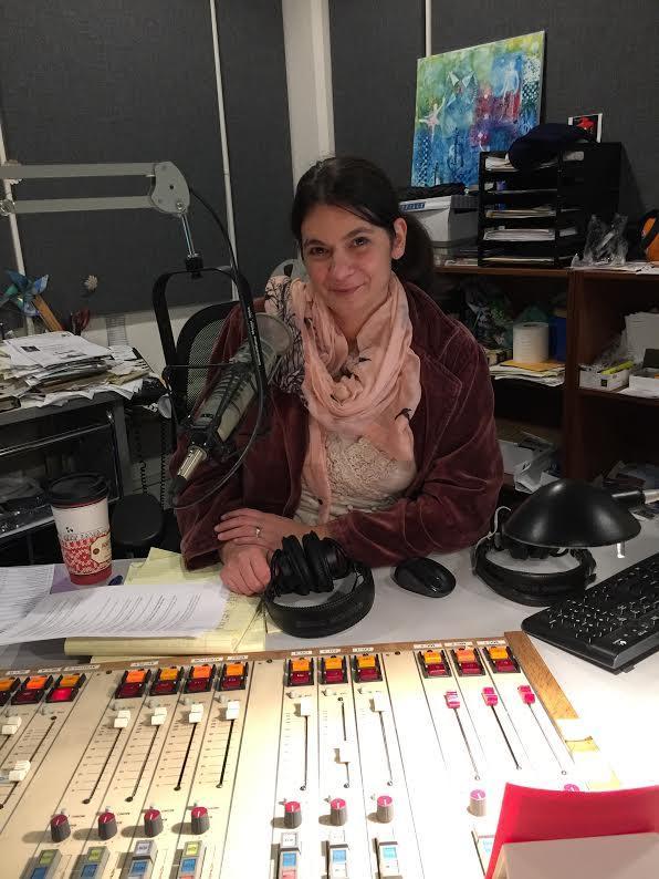 Gina Gambony in studio 3 where Communique happens