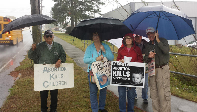 At least twice a week, rain or shine, people opposed to abortion protest on 17th Street, near the Planned Parenthood in Wilmington.
