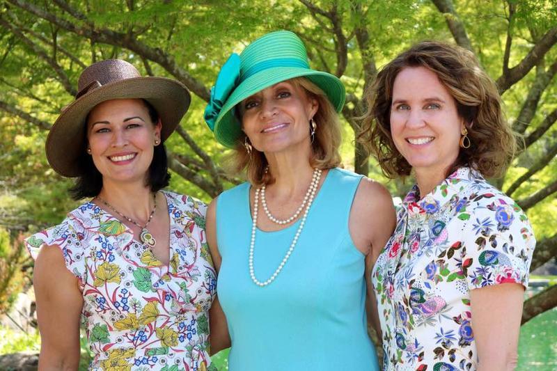 Sidney Penny (l), Caroline Butler (c), Kimberly Exum (r), 2017 Azalea Garden Tour Chairs
