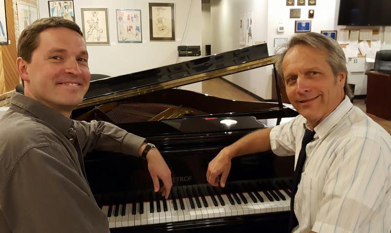 Justin Hoke & Steven Errante at WHQR's piano