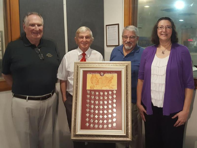 Ray Flanigan (President), Jim Savage, Ken Barlow, and Karen Forest from LCFCC