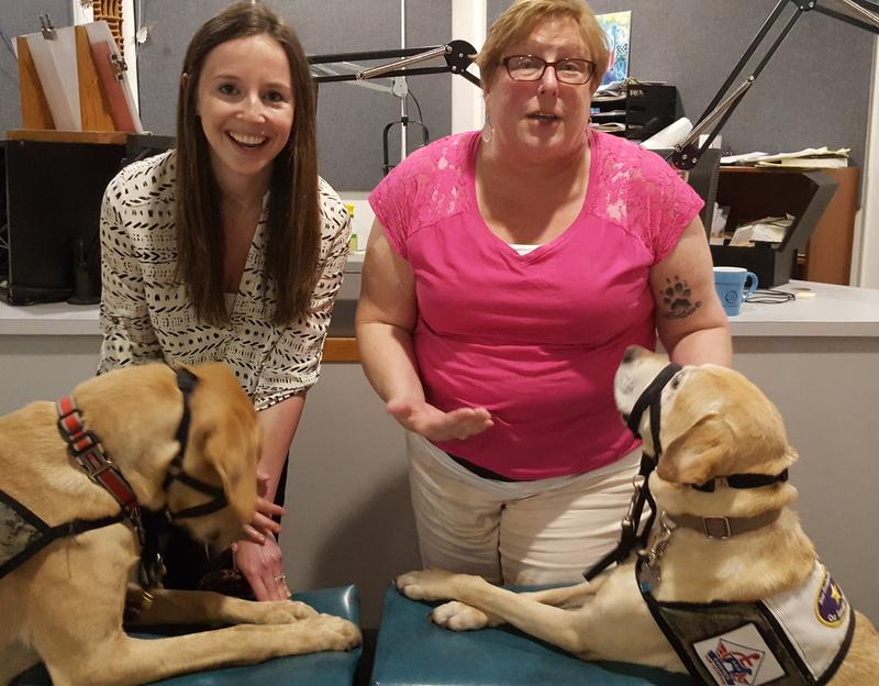 Colleen Vihlen & Pat Hairston with 2 dogs from Canines for Service