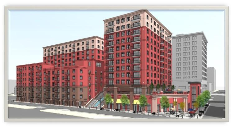 An artist rendition of River Place, which will open in 2019 in downtown Wilmington.