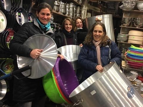 Humanity Now in Greece, purchasing kitchen wares for a squat