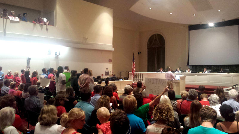 City Council chambers had an overflow crowd for Tuesday's meeting.