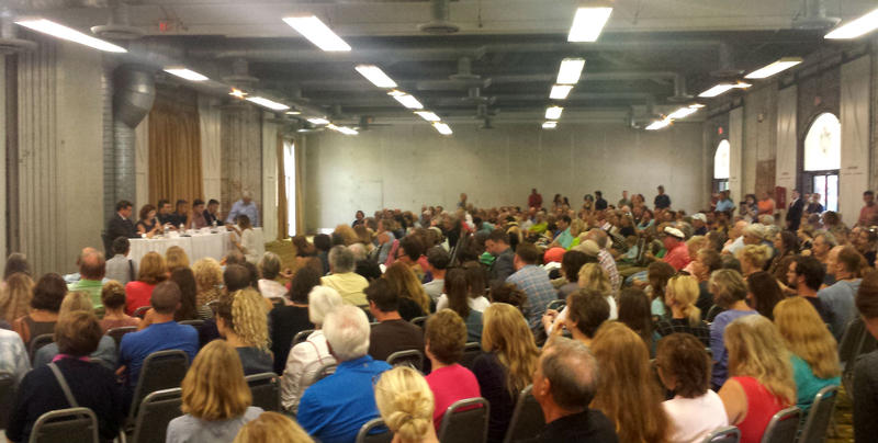 Hundreds of concerned citizens packed the Coastline Convention Center Wednesday night to learn more about GenX.