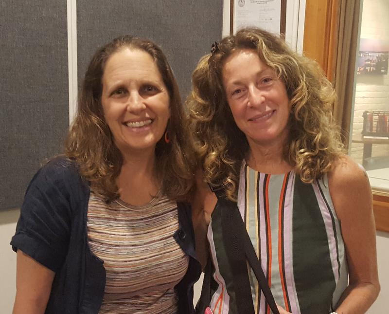 Dana Sachs (L) & Stephanie Meyers from Humanity Now