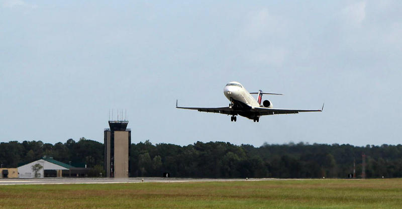 Most flights in and out of ILM on Monday have been cancelled.