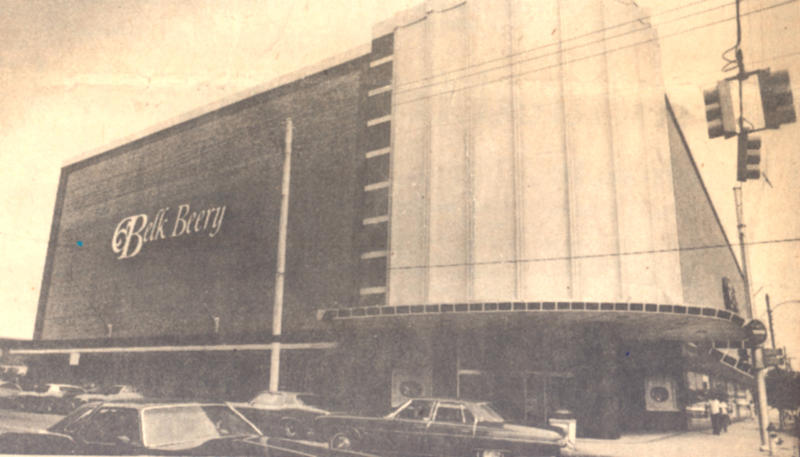 In 1951, Belk opened its doors to shoppers. That building was converted into the downtown library we have today in 1982.