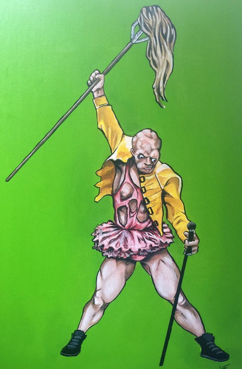 """Original poster art for """"The Toxic Avenger"""""""
