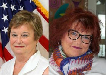 L to R: Pat Batleman, Sandra Ford