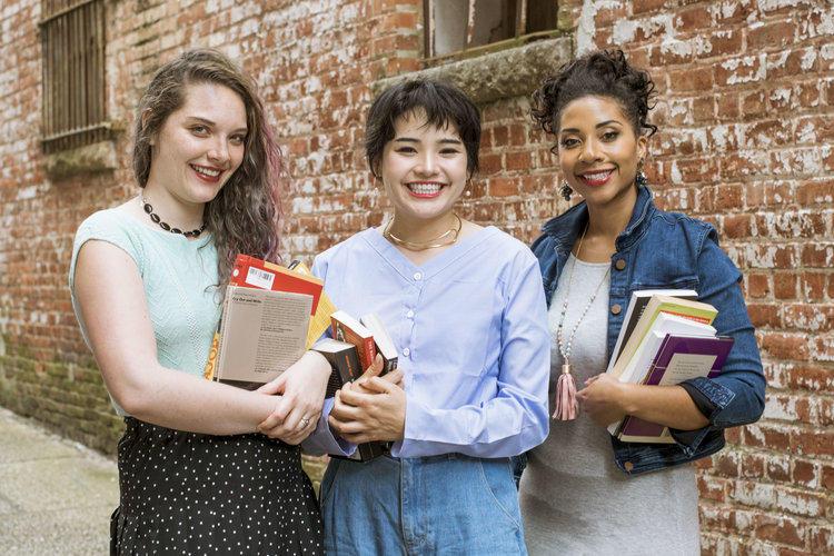 Lori Wilson (l), Daisuke Shen, and Khalisa Rae