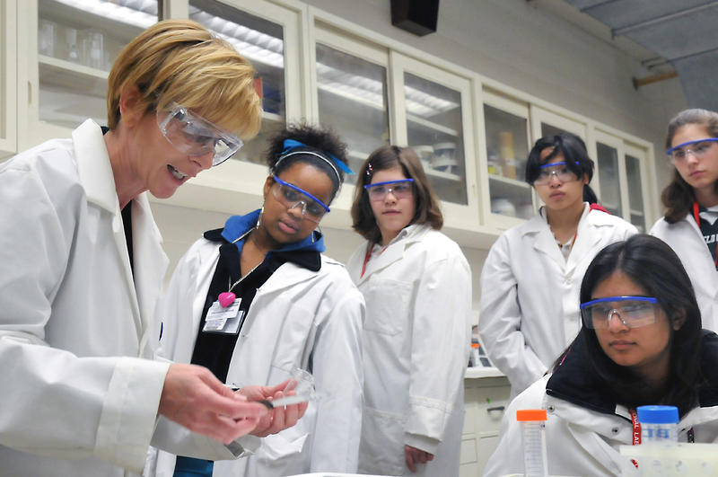"At its annual event ""Science Careers in Search of Women"", Argonne National Laboratory demonstrates to 350 young women from Chicago-area high schools why a career in science might be right for them. The day-long Science Careers in Search of Women conferenc"