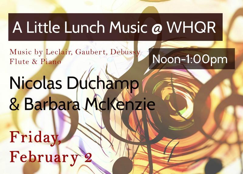 """""""A Little Lunch Music"""" with Nicolas Duchamp & Barbara McKenzie"""