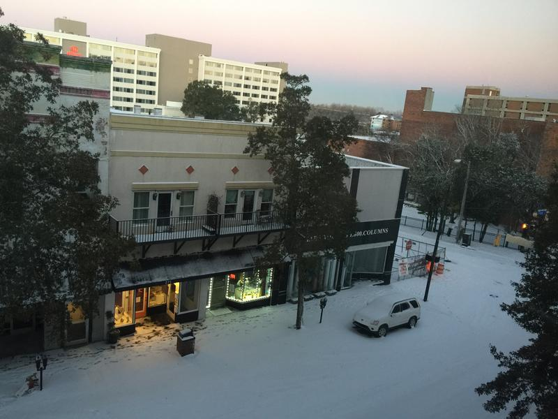 Front Street in downtown Wilmington just after sunrise on January 4, 2018