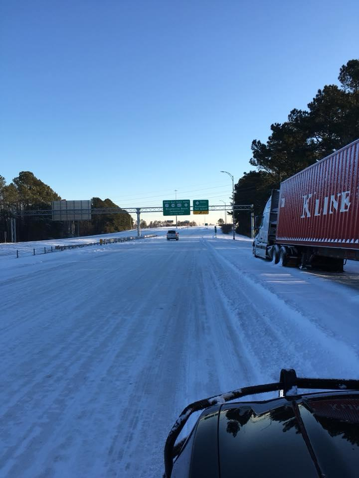 U.S. 74 near the River Road exit in Brunswick County Thursday morning, January 4, 2018.