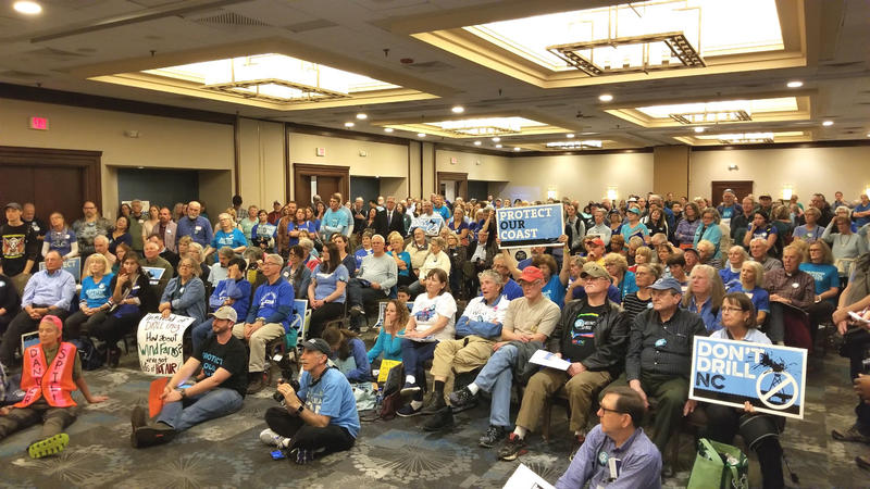 More than 300 people attended the anti-drilling rally in Raleigh.