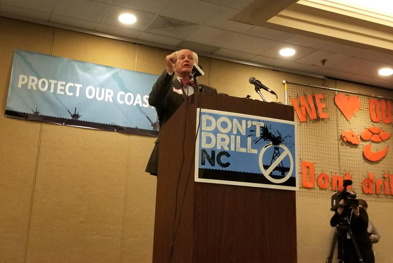 Dare County Commissioner Bob Woodard – a Republican – represents the Outer Banks. He is strongly opposed to drilling.
