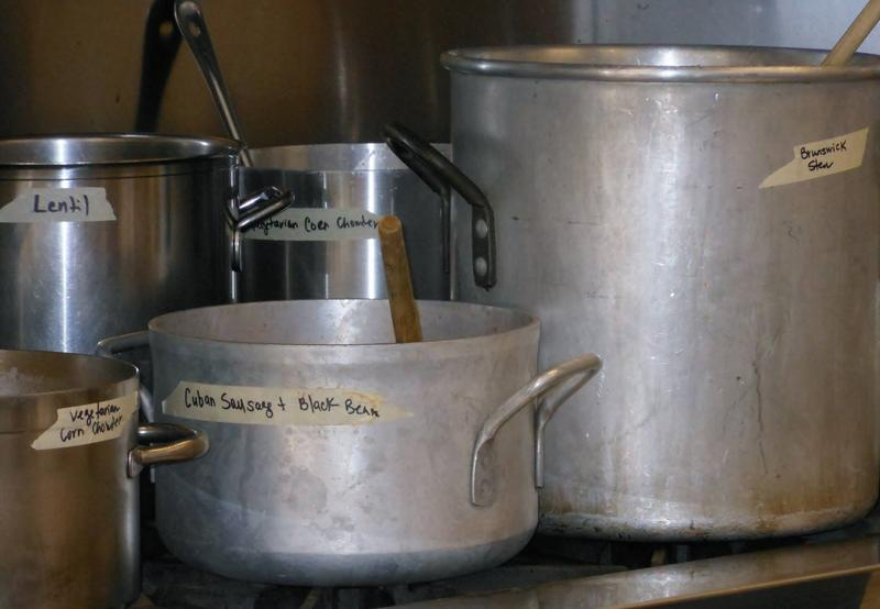 Full pots at Empty Bowls