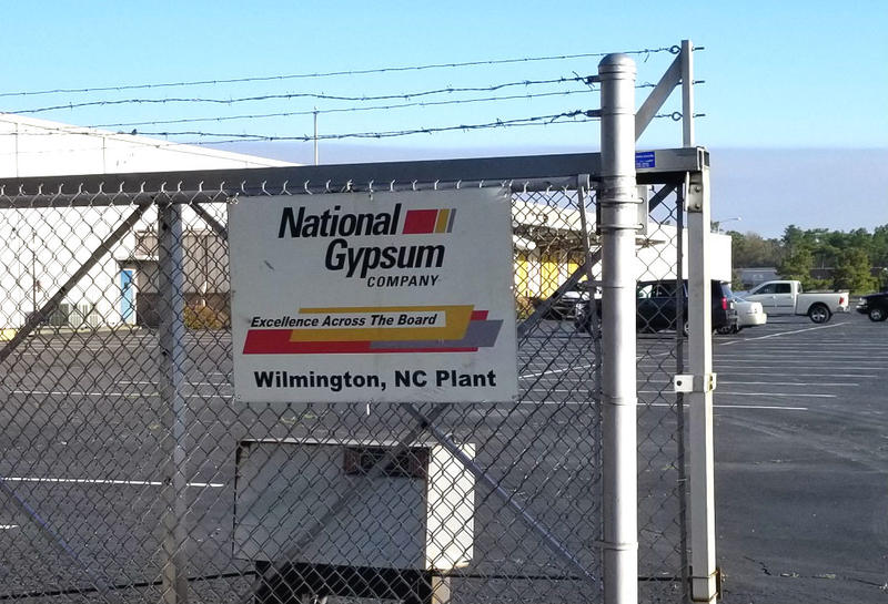 Despite being shuttered for years, the signs are still up at National Gypsum on Sunnyvale Drive.