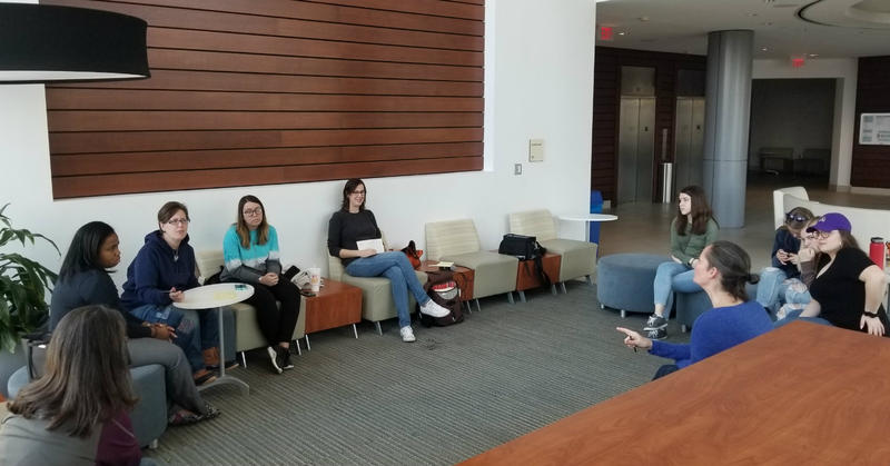 Local high school students meet Sunday afternoon at CFCC to plan the March this Saturday in WIlmington.