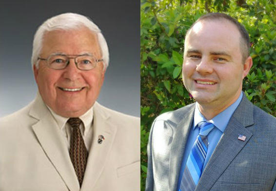 Don Hayes (l.) and Frank Meares are running for New Hanover County Board of Education.