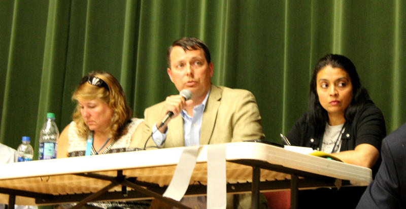 Michael Abraczinskas (center) is the Director of the state's Division of Air Quality. He will make the final permit decision.