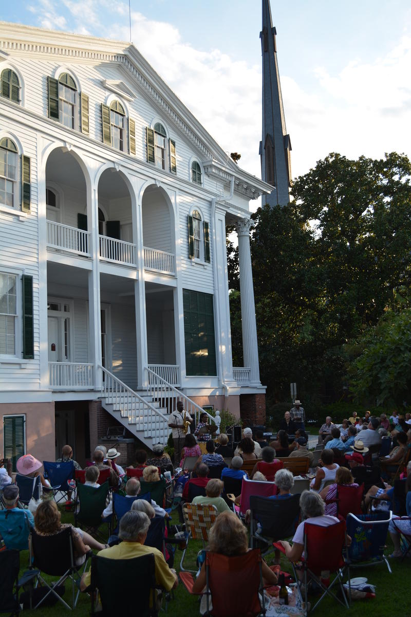 Jazz on the Bellamy Mansion lawn