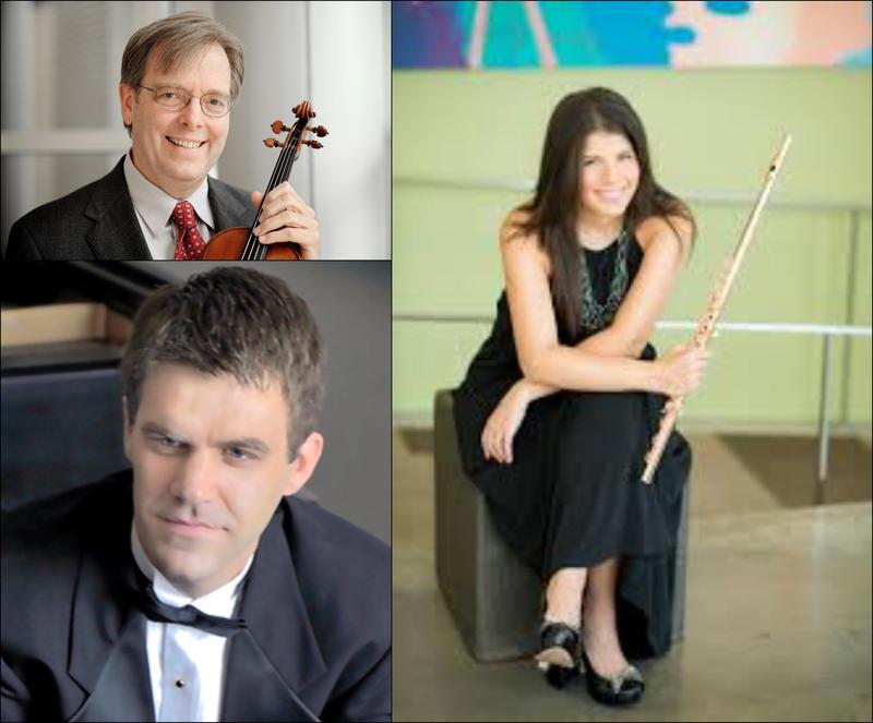 Nicole Esposito (flute), Kevin Lawrence (violin), Joseph Rackers (piano)