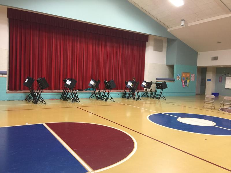 Belville Elementary in Brunswick County at midday Election Day.