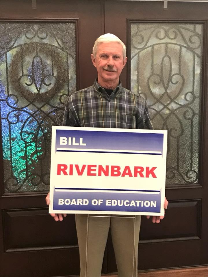 Bill Rivenbark (R) is the top vote-getter in the New Hanover County Board of Education Republican primary.