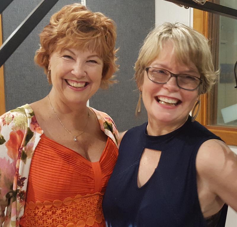 Elizabeth Michaels (l) & Celia Rivenbark