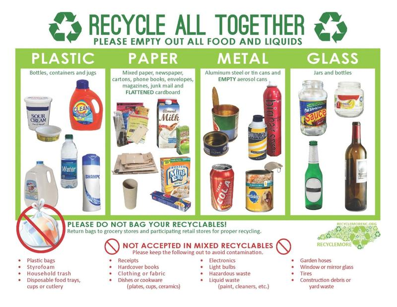 While recycling requirements and technology can vary from market to market, New Hanover and Brunswick Counties provide nearly identical guidelines.