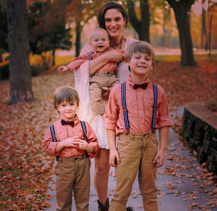 Dr. Julie-Ann Scott-Pollock and her three sons