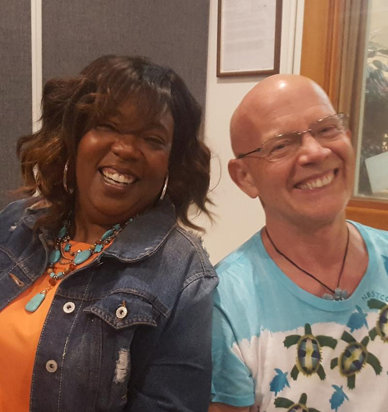 Toya Wilson (L) & Jim Downey