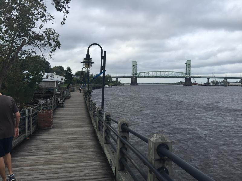 By Thursday morning, the Cape Fear River near downtown Wilmington was already rising.